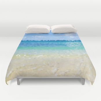 abstract Hawaiian beach duvet cover