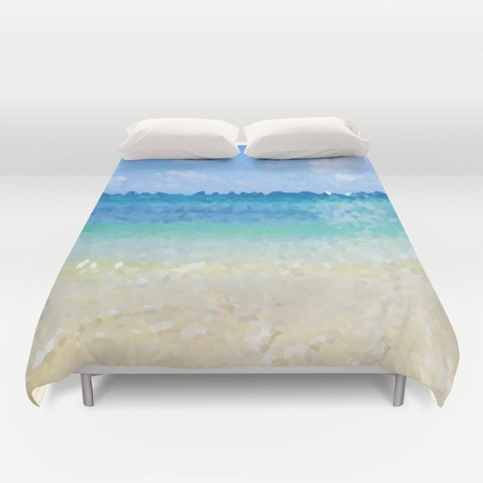 Tropical Abstract Ocean Duvet Cover King Queen Full Twin