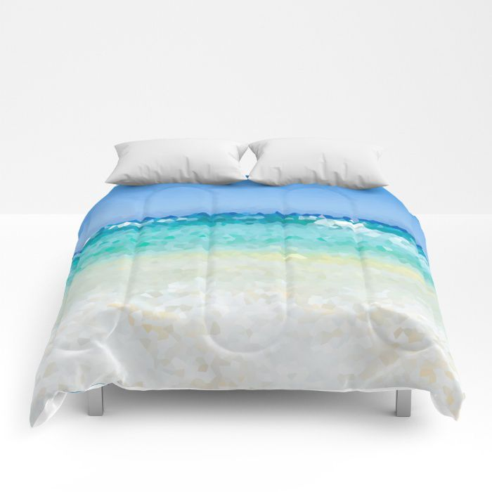 Abstract Beach Comforter Ocean Sea Bedding Hawaii