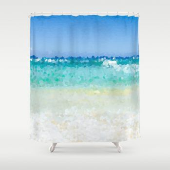 abstract ocean-shower curtain