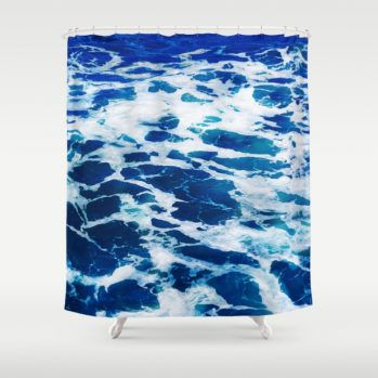deep blue ocean surf-shower-curtains