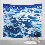 deep blue ocean surf tapestries