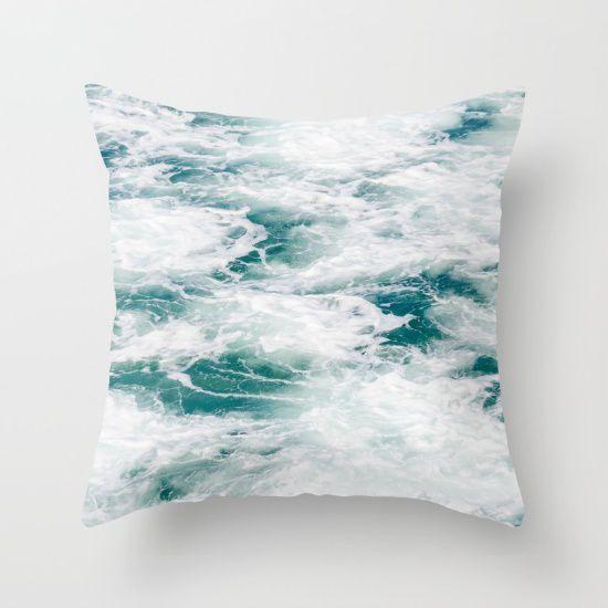 Deep Ocean Water Throw Pillow Cover Sea Cotton Surf
