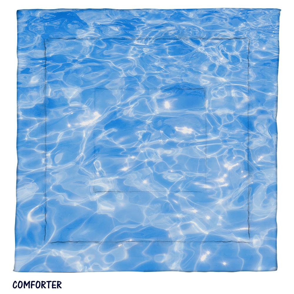Blue Sparkling Water Comforter Ocean Sea Bedding