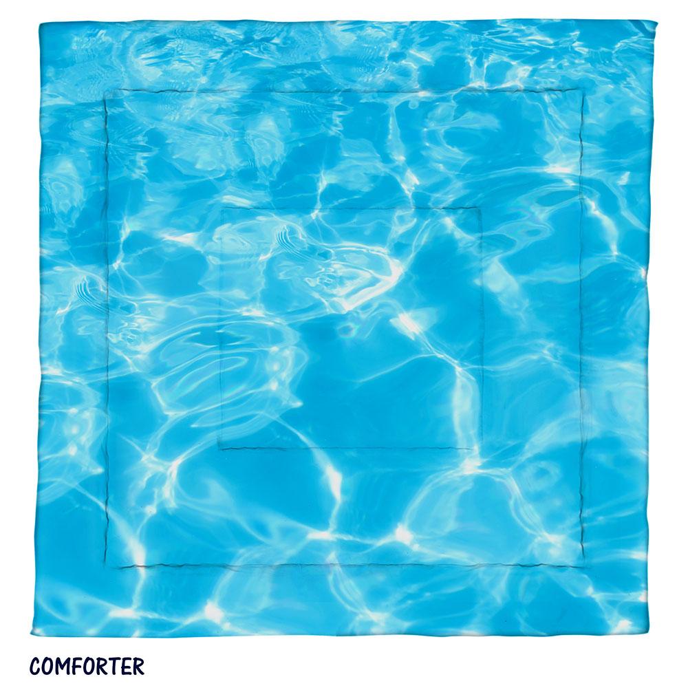 Light Blue Sparkling Water Comforter Ocean Sea Bedding