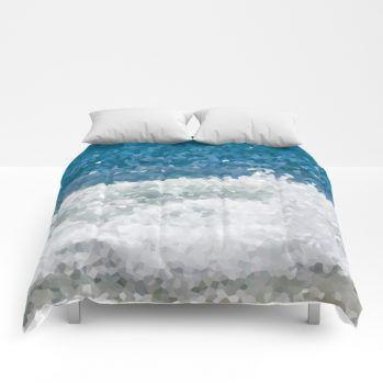 blue ocean water-comforters