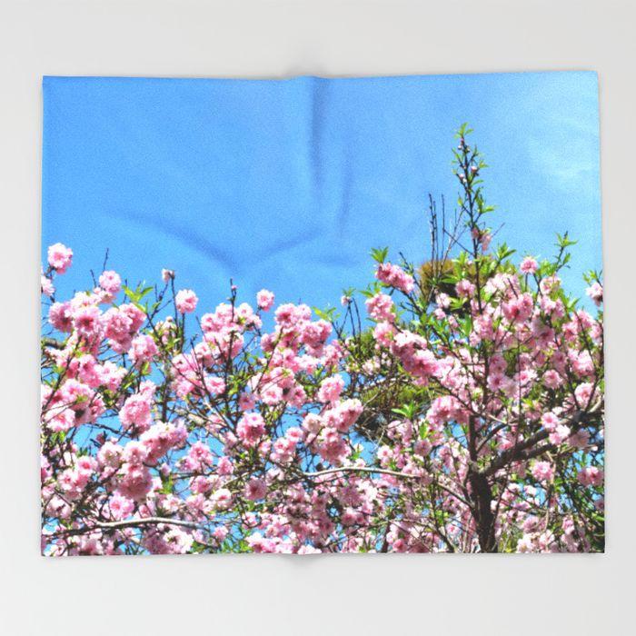 cherry blossom spring blanket