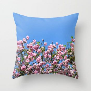 cherry blossom spring pillow