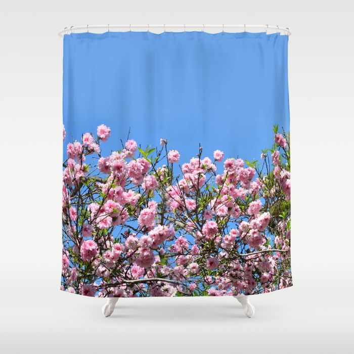 cherry blossom spring shower curtain