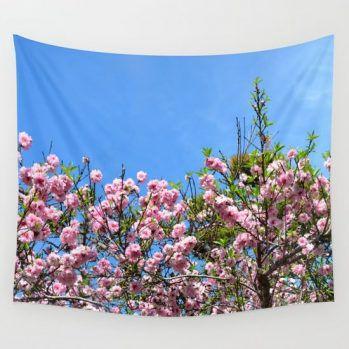 cherry blossom spring tapestry1