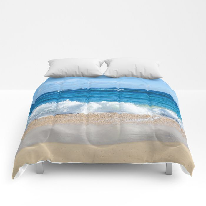 Charming Hawaiian Beach Comforter Ocean Sea Bedding