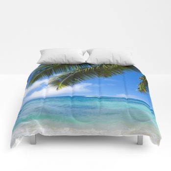 palms 2 comforter by beachlovedecor