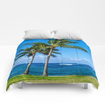 palms 3 comforter by beachlovedecor