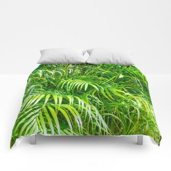 palms comforter by beachlovedecor