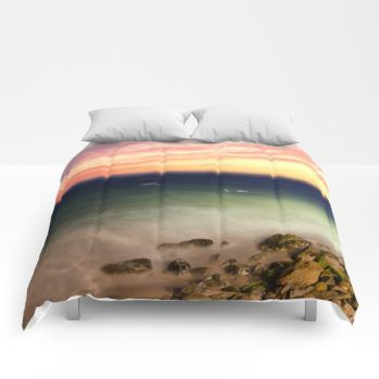 sunset 3 comforter by beachlovedecor