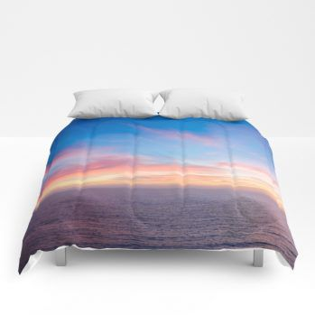 sunset 4 comforter by beachlovedecor
