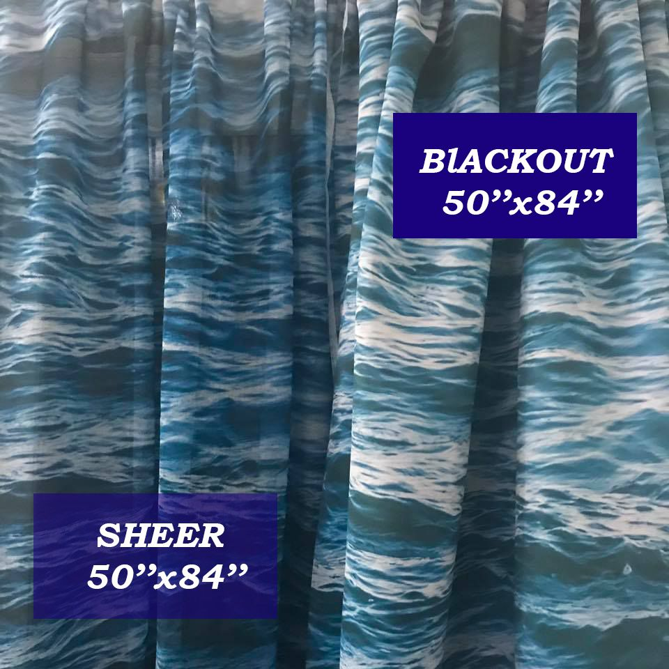 High Palm Window Curtain Blackout Curtain Sheer Curtain