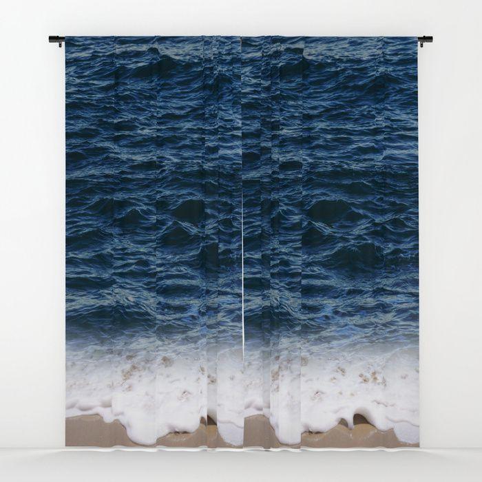 Ocean window curtain, blackout curtain, sheer curtain ...