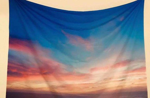 sunsetoceanwalltapestry