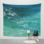 turquoise calm ocean surf tapestry1