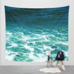 turquoise ocean surf shower shams tap