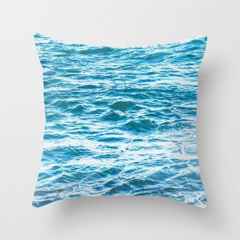 whiteblueoceanpillowcover