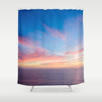 Malibu ocean sunset #ocean #sunset #showercurtain #beachlovedecor