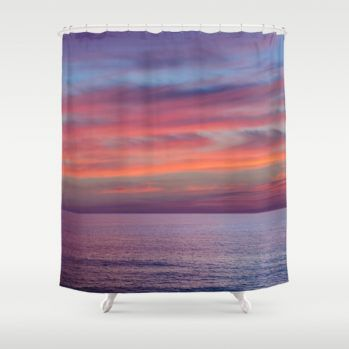 Malibu sunset #ocean #sunset #showercurtain #beachlovedecor