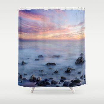 ocean-sunset-shower-curtain