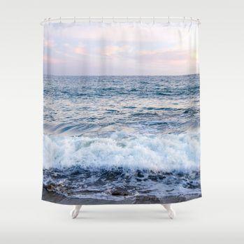 oceansunsetshowercurtain