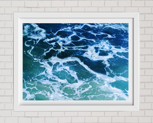 Fine Art Print Blue And Turquoise Ocean Water Large Format Wall Decor