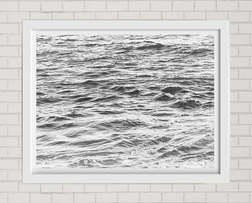 Fine Art Print Black And White Ocean Large Format Wall Art Wall Decor Art Print
