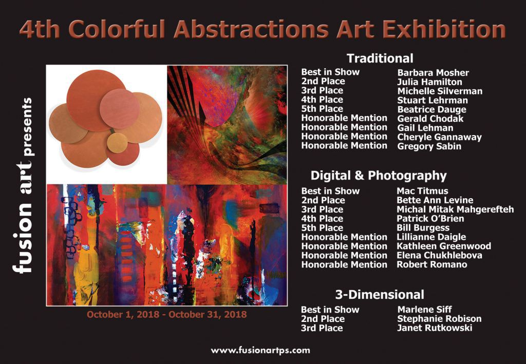 4th Colorful Abstractions Event Postcard